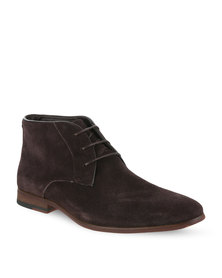 Pierre Cardin Leather Lace-up Boots Brown
