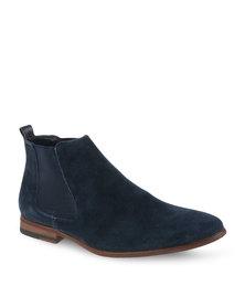 Pierre Cardin Leather Slip-On Boots Blue
