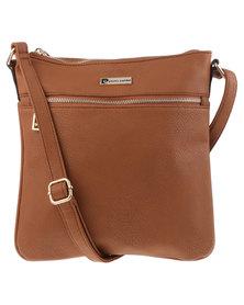Pierre Cardin Molly Cross Body Bag Tan