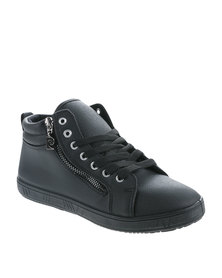 Pierre Cardin Lace Up High Top Sneakers Black