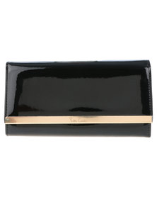 Pierre Cardin Gwyn Patent Bar Trim Wallet Black Patent
