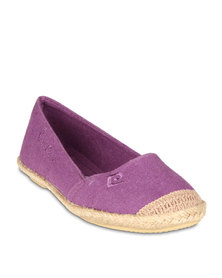 Pierre Cardin Espadrille Pumps Purple