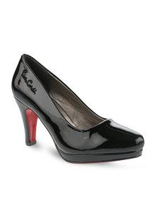 Pierre Cardin Patent Court Heels Black