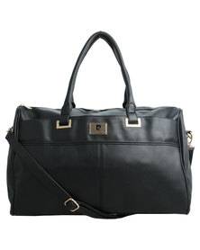 Pierre Cardin Farah Weekender Bag Black