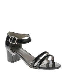 Pierre Cardin Block Heel Strappy Sandals Black