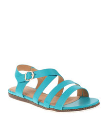 Pierre Cardin Strappy Sandals Turquoise
