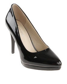 Pierre Cardin Heeled Court Platform Black