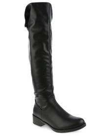 Pierre Cardin Knee-High Boots Black