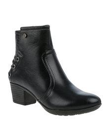 Pierre Cardin Short Heeled Boot Black