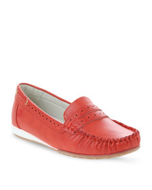 Pierre Cardin Slip-On Shoes Red
