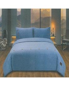 Pierre Cardin Chambray Duvet Cover Set Blue
