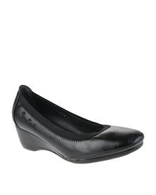 Pierre Cardin Wedge Courts Black