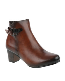 Pierre Cardin Heeled Ankle Boot Brown