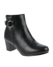 Pierre Cardin Heeled Ankle Boot Black
