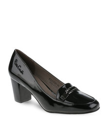 Pierre Cardin Court Heels Black