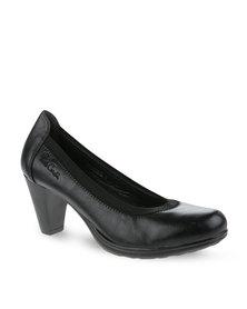 Pierre Cardin Court Heels Black