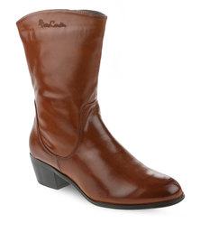 Pierre Cardin Calf Length Boot Brown
