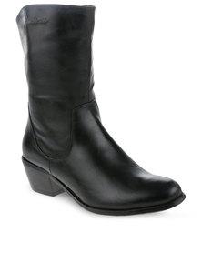 Pierre Cardin Calf Length Boot Black