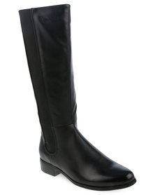 Pierre Cardin Panel Inset Boot Black
