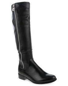 Pierre Cardin Knee High Boots Black
