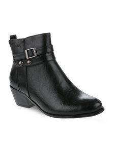 Pierre Cardin Double Strap Ankle Boot Black