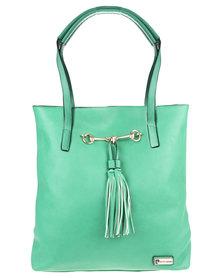 Pierre Cardin Iona Tassel Shopper Handbag Green