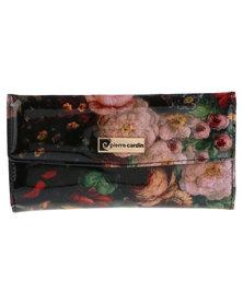 Pierre Cardin Stella Flap-Over Wallet Floral Patent
