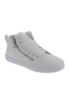 Pierre Cardin Lace Up High Top Sneakers White