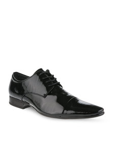 Pierre Cardin Leather Ruched Lace-up Shoe Black