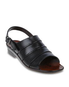 Pierre Cardin Open-Toe Casual Sandals Black
