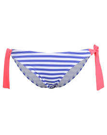 Piha Papeete Stripe Tie Side Bikini Bottom Multi