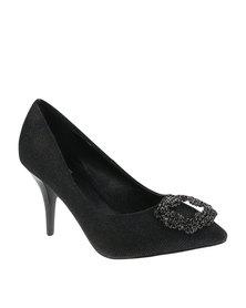 Plum Manila Heels Black