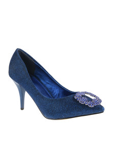 Plum Manila Heels Cobalt Blue