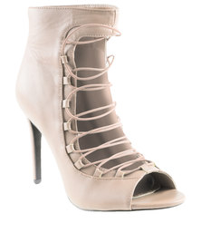 PLUM Rome High Heels Nude