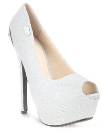 Plum Diva Heels Silver