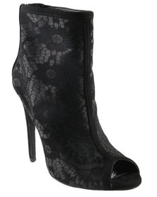 PLUM Exclusive Lace Boots Black
