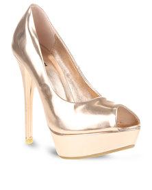 Plum Dakota Heels Gold