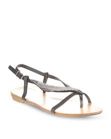 Plum India Sandals Black