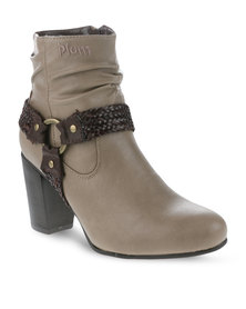 Plum Jeda Boots Taupe