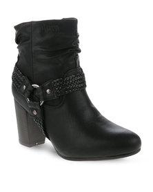Plum Jeda boots Black