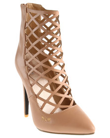 PLUM Kimmy Ankle Boots Nude