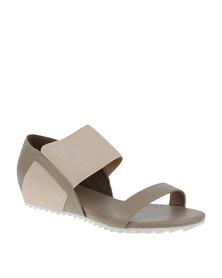 PLUM Danielle Flat Slip On Shoe Taupe