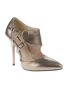 PLUM Sammy Heels Pewter