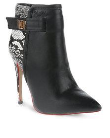 Plum Juno Boots Black