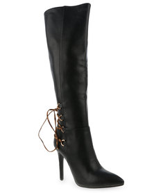 Plum Shayna Exc Boots Black