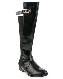 Plum Cleo Boots Black