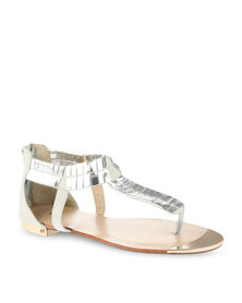 Plum Reeba Sandals White