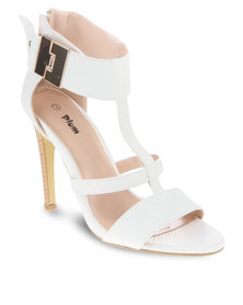 Plum Cara Heels White
