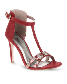 Plum Jazz Heels Red