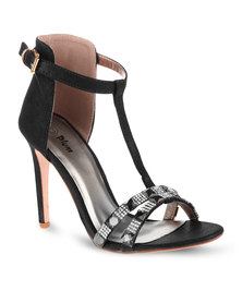 Plum Jazz Heels Black